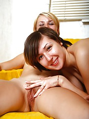 Girls playing with a dildo
