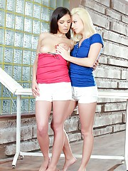 Teens undressing each other