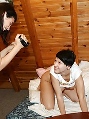 Two girls and a big camera