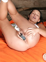 Brunette and blonde playing