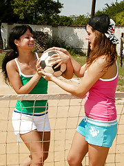 Vollyball lesbians playing