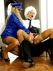 Two hot blondes pleasuring
