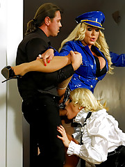 Dressed up blondes drilled