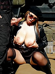 Cutie fucking the army guy