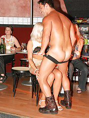 Strippers shagging customer