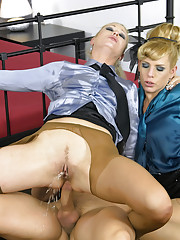 Tied up blonde chick pissed