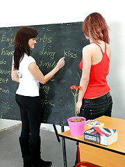 Girls doing their homework