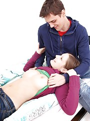 Pleasing a blonde teenager