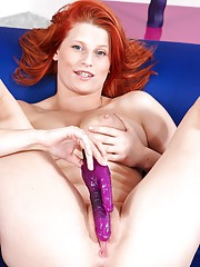 Redhead Emmy and her dildo