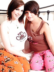 Two horny lesbians showing