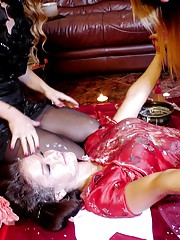 A massage girl gets messy