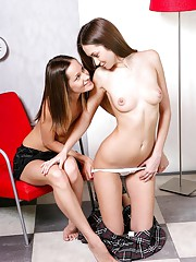 Sexy chicks playing naked