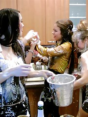 Babes play in flour drunk
