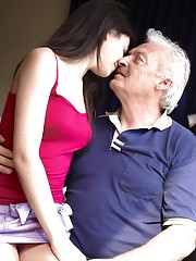 A hot girl fucks an old man