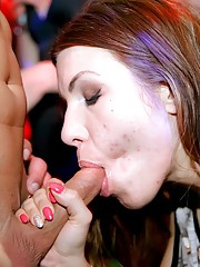 Sassy babes party and fuck
