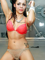 Hot girls get wet and strip