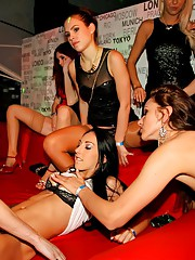 Babes having hot party sex