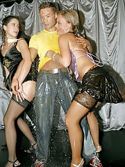 Babes giving party blowjobs