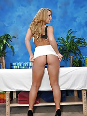 Beautiful blonde Katerina is seduced and fucked hard by her massage therapist