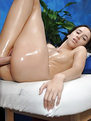 Belle seduced and fucked hard by her massage therapist