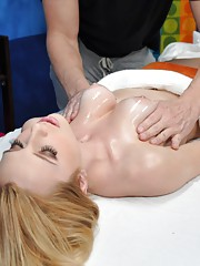 Taylor seduced and fucked hard by her massage therapist