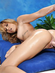 Sexy 18yo Marina is seduced and fucked hard by her massage therapist