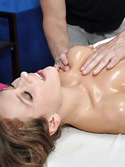 Callie seduced and fucked hard by her massage therapist