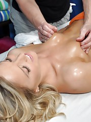 Megan seduced and fucked hard by her massage therapist