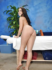 Hot and sexy brunette Lola gets fucked hard from behind by her massage therapist