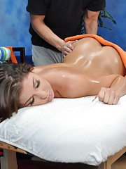 18 year old Mia G gets fucked hard from behind by her massage therapist