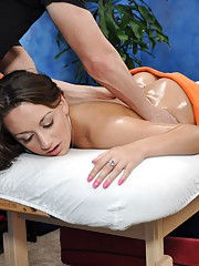 18 year old Nova gets fucked hard from behind by her massage therapist