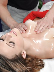 Hot and sexy 18 year old Summer gets fucked hard from behind by her massage therapist