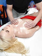 Elaina seduced and fucked hard by her massage therapist.
