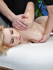 Molly seduced and fucked hard by her massage therapist