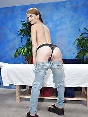 Cute brunette Sensi gets seduced by her massage therapist