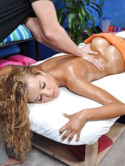 Brazilian beauty seduced and fucked hard by her massage therapist