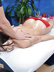 Cute 18 year old slute gets fucked hard by her massage therapist