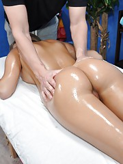 sexy 18 year old gets fucked hard by her massage therapist