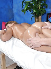 Voluptious 18 year old massage patient gets a hard fuck session with Jake!