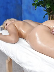 18 Year old blonde gets fucked hard by her massage therapist