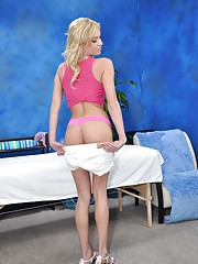 Hot & Sexy 18 year old gets fucked hard from behind by her massage therapist