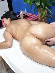 Gorgeous 18 year old slut gets fucked hard from behind by her massage therapist