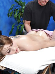 Hot 18 year old slut gets fucked hard by her massage therapist