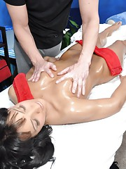 Hot 18 yar old gets fucked hard by her massage therapist