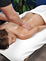 Hot 18 year old brunette gets fucked hard by her massage therapist