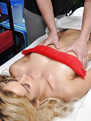 Hot 18 blonde gets fucked hard by her massage therapist