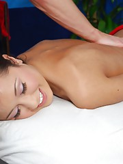 Sexy 18 year old receives a hot massage and a fuck