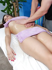 Sexy 18 year old receives a hard fuck by her massage therapist