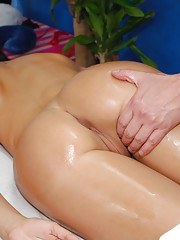 Hot 18 year old fucks and sucks after a sensual massage session