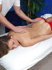 Perfect ass 18 year old fucked hard and facialed by her massage therapist.